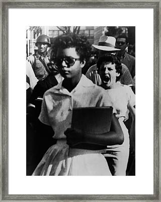 Elizabeth Eckford, One Of The Nine Framed Print by Everett