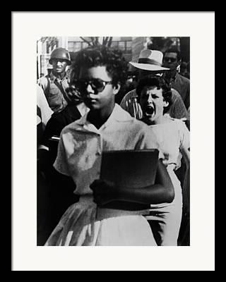 Race Discrimination Framed Prints