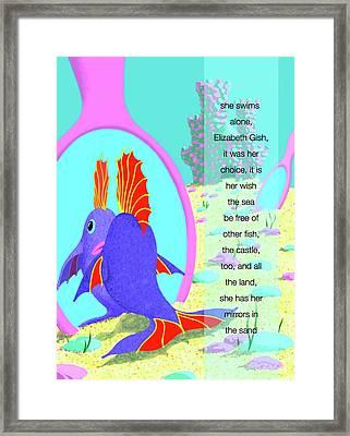 Elizabeth Gish Framed Print by Tom Dickson