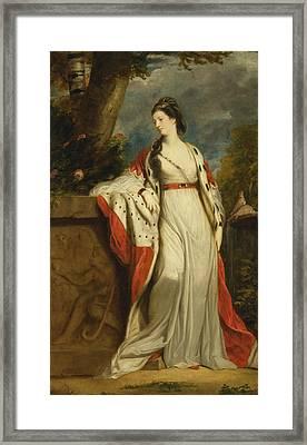 Elizabeth Gunning Duchess Of Hamilton And Argyll Framed Print by Joshua Reynolds