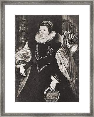 Elizabeth I, 1533 Framed Print by Vintage Design Pics