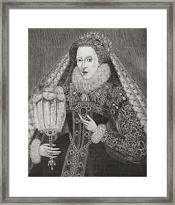 Elizabeth I, 1533 To 1603. Queen Of Framed Print by Vintage Design Pics