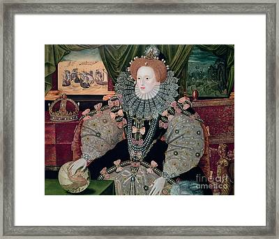 Elizabeth I Armada Portrait Framed Print by George Gower