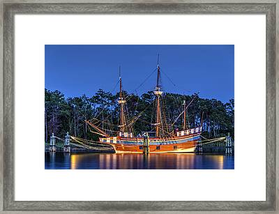 Elizabeth II At Dock Framed Print