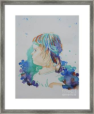 Elizabeth In Technicolor Framed Print by Lise PICHE