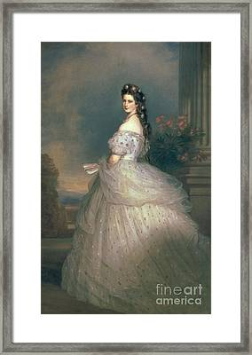 Elizabeth Of Bavaria Framed Print by Franz Xavier Winterhalter
