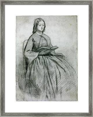 Elizabeth Siddall In A Chair Framed Print by Gabriel Rossetti
