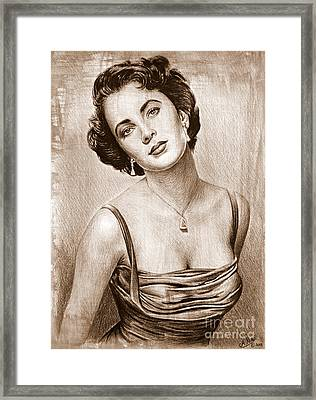 Elizabeth Taylor Framed Print by Andrew Read