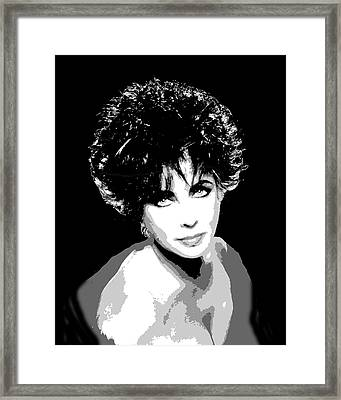 Elizabeth Taylor Framed Print by Richard La Valle