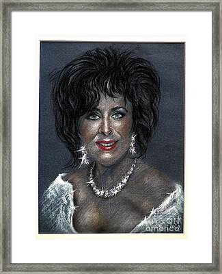Elizabeth Taylor Framed Print by Tony Calleja