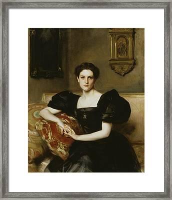 Elizabeth Winthrop Chanler Framed Print by John Singer Sargent