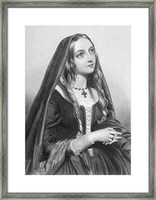 Elizabeth Woodville,1437-1492. Queen Framed Print