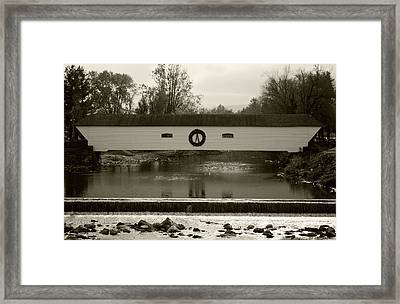 Elizabethton Covered Bridge Framed Print by Jeff Severson