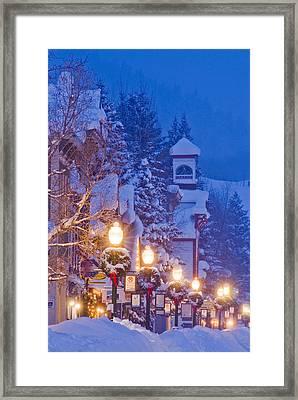 Elk Avenue Wreaths Framed Print by Dusty Demerson