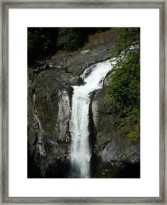 Framed Print featuring the painting Elk Falls  by 'REA' Gallery