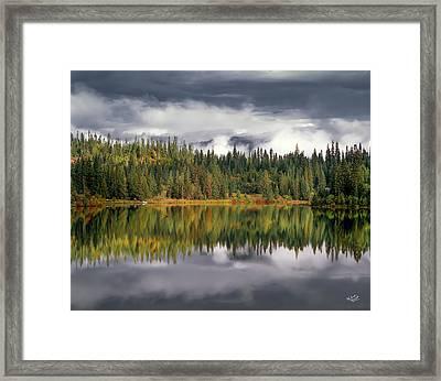 Elk Lake Framed Print by Leland D Howard