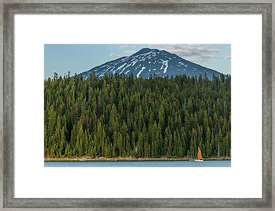 Elk Lake Sailing  Framed Print