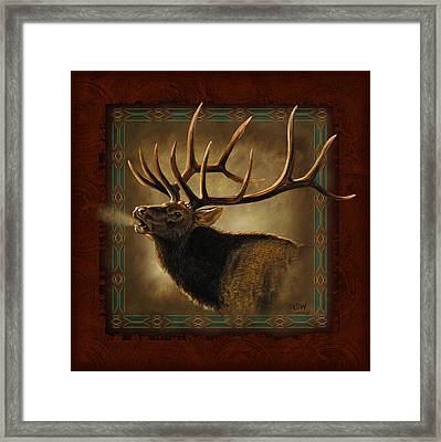 Elk Lodge Framed Print