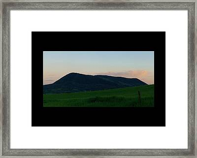 Framed Print featuring the photograph Elk Mountain Meadow Sunset by Daniel Hebard