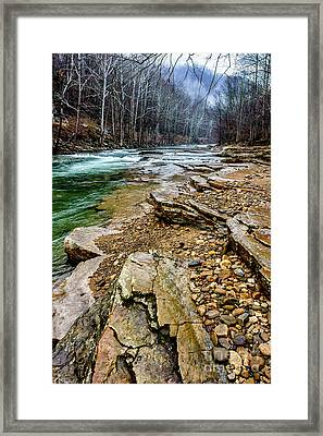 Framed Print featuring the photograph Elk River In The Rain by Thomas R Fletcher
