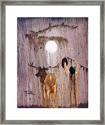 Elk Spirit Framed Print by Patrick Trotter