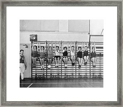 Elk Wives Workout Framed Print