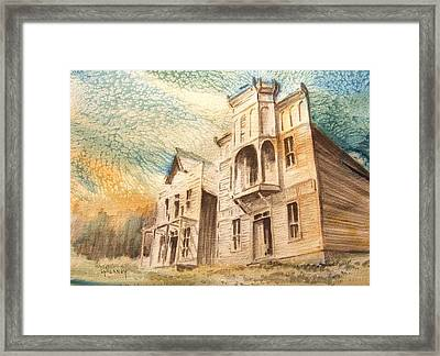 Elkhorn Ghost Town Montana Framed Print by Kevin Heaney