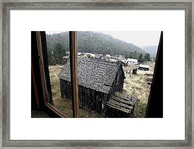 Elkhorn Snowfall Framed Print