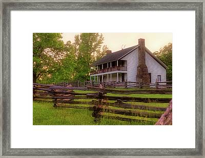 Elkhorn Tavern At Pea Ridge - Arkansas - Civil War Framed Print