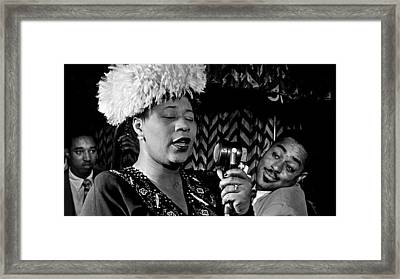 Ella Fitzgerald Dizzy Gillespie And Ray Brown William Gottlieb Photo Nyc 1947-2015 Framed Print by David Lee Guss