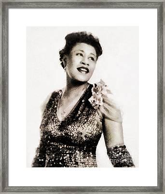 Ella Fitzgerald, Music Legend By John Springfield Framed Print
