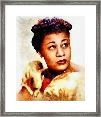 Ella Fitzgerald, Music Legend Framed Print