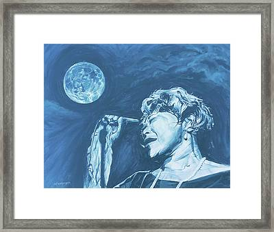 Ella Singing 'blue Moon' Framed Print
