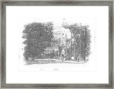 Framed Print featuring the photograph Ellaville, Ga - 1 by Jerry Battle