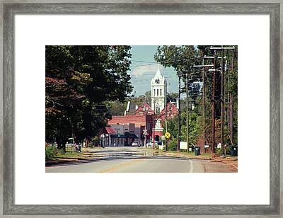 Framed Print featuring the photograph Ellaville, Ga - 2 by Jerry Battle