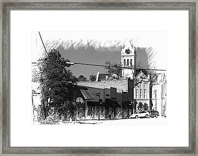 Framed Print featuring the photograph Ellaville, Ga - 3 by Jerry Battle