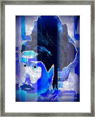Framed Print featuring the drawing Elle by Fania Simon