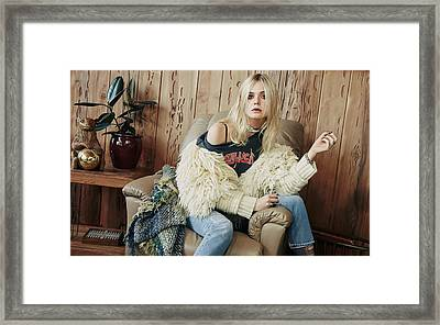 Elle Fanning New Framed Print by F S