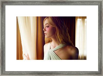 Elle Fanning The Neon Demon  Framed Print by F S