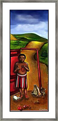 Elegua -guardian Of Crossroads Framed Print by Carmen Cordova