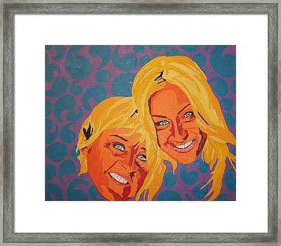 Ellen And Portia Framed Print