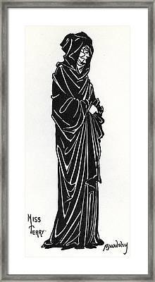 Ellen Terry As Rosamund De Clifford Framed Print by Aubrey Beardsley
