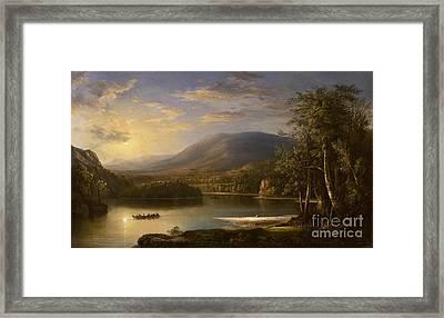 Ellen's Isle - Loch Katrine Framed Print by Robert Scott Duncanson