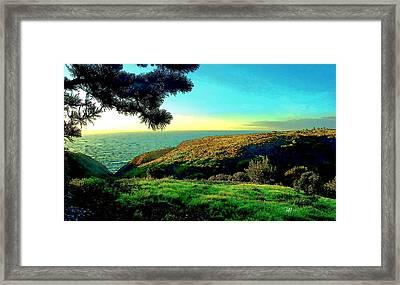 Ellentown - La Jolla Framed Print by Russ Harris