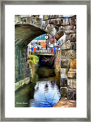 Ellicott City Bridge Arch Framed Print by Stephen Younts