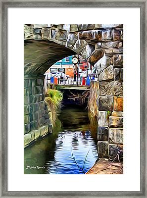 Ellicott City Bridge Arch Framed Print