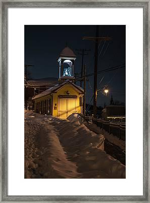 Ellicott City Fire Station Framed Print