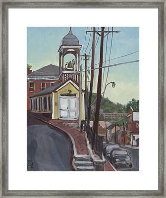 Ellicott City Firehouse Framed Print by Edward Williams