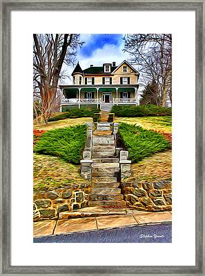 Ellicott City House Framed Print by Stephen Younts