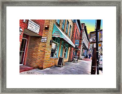 Ellicott City Shops Framed Print by Stephen Younts